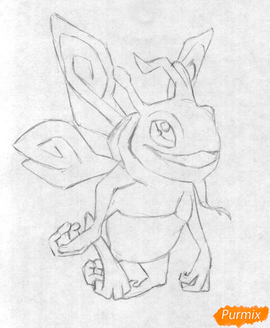 Рисуем героя Puck из игры Dota 2 - шаг 1
