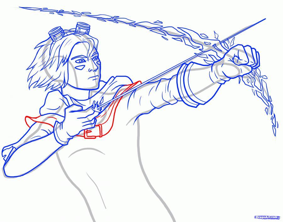 Рисуем героя Эзреаля из Лиги Легенд