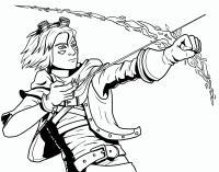 Фото героя Эзреаля из Лиги Легенд карандашом