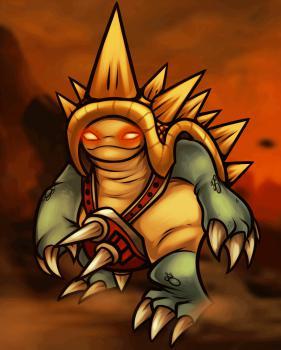 Рисуем героя Рамуса из League of Legends
