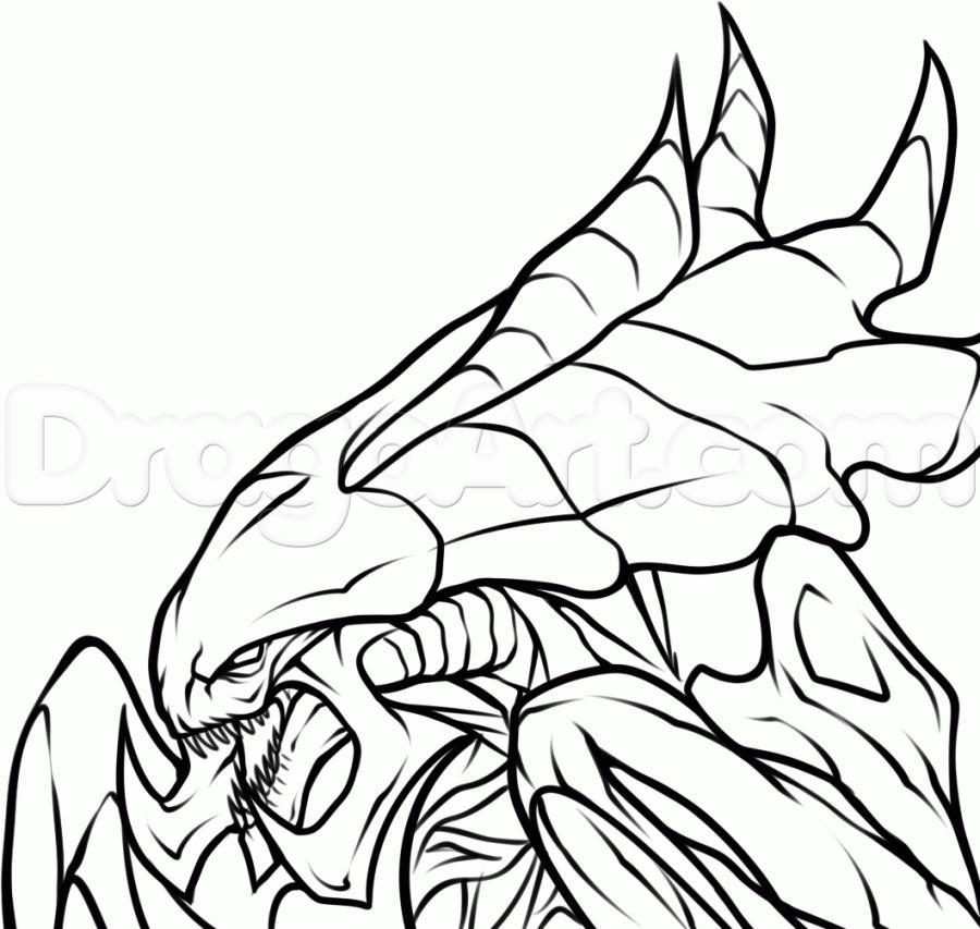 Рисуем голову Гидралиска из StarCraft - фото 10