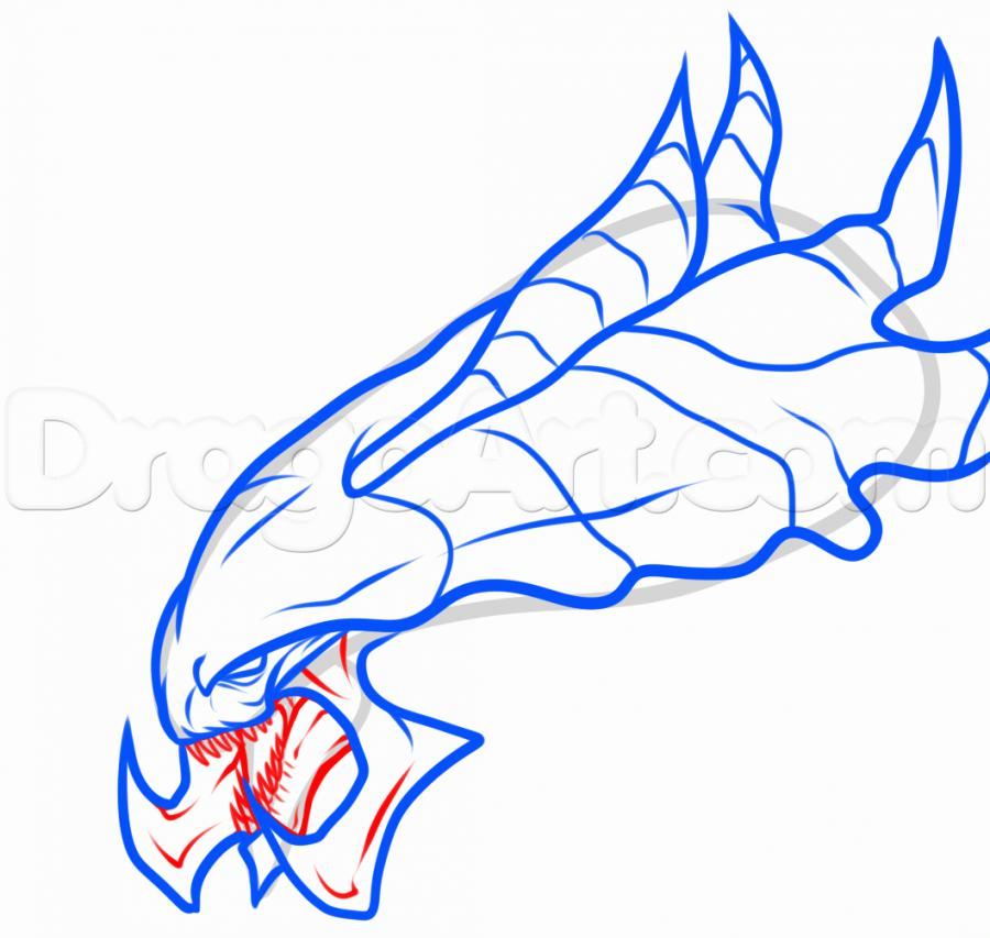 Рисуем голову Гидралиска из StarCraft - фото 5