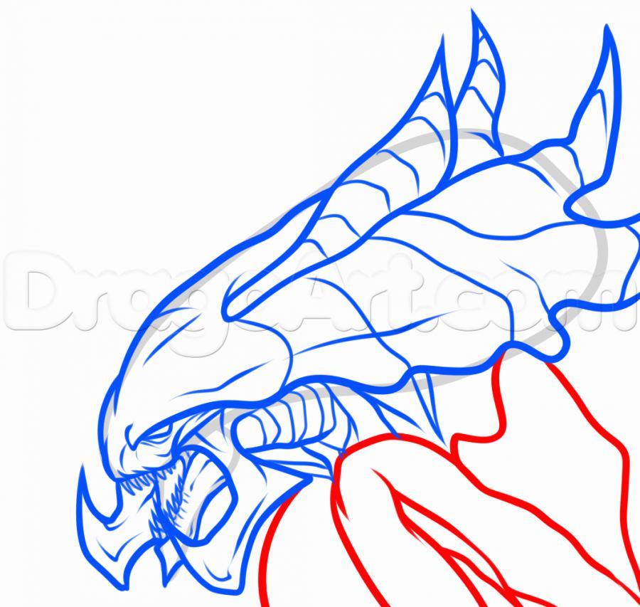 Рисуем голову Гидралиска из StarCraft - фото 7
