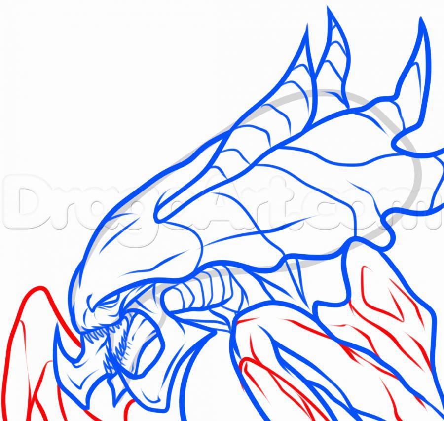 Рисуем голову Гидралиска из StarCraft - фото 8