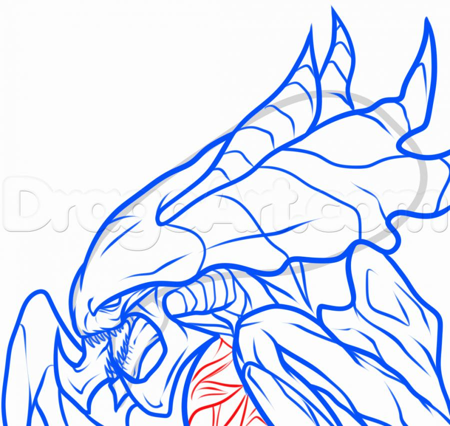 Рисуем голову Гидралиска из StarCraft - фото 9