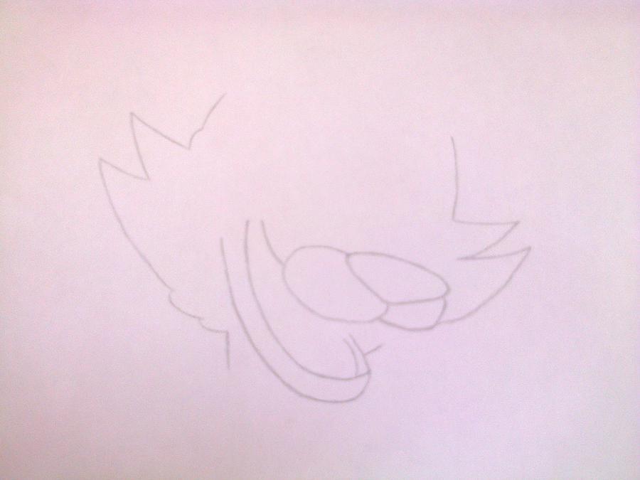 Рисуем голову Фокси из 5 ночей с Фредди - шаг 3