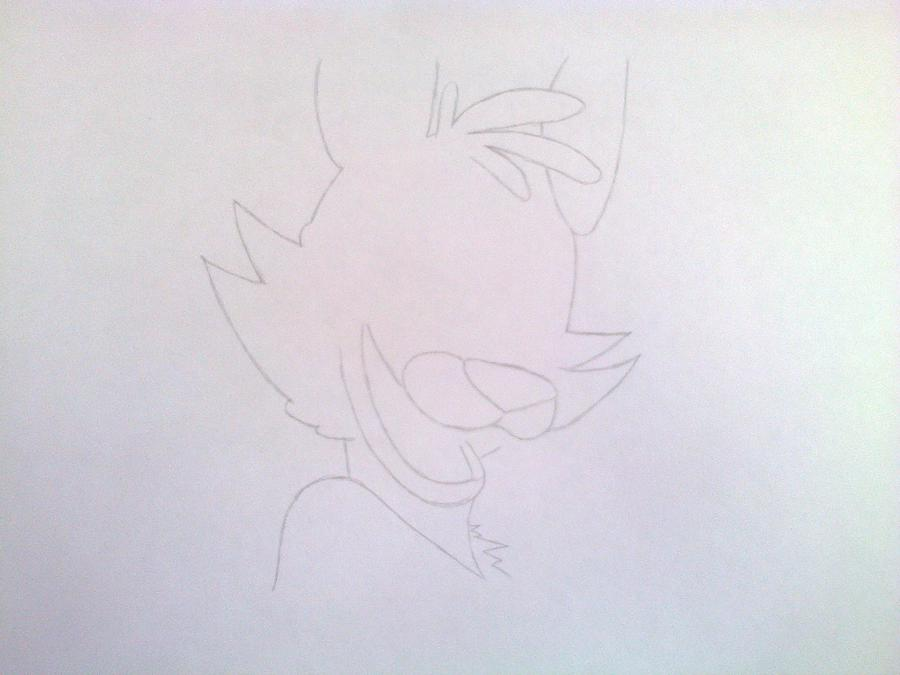 Рисуем голову Фокси из 5 ночей с Фредди - шаг 4
