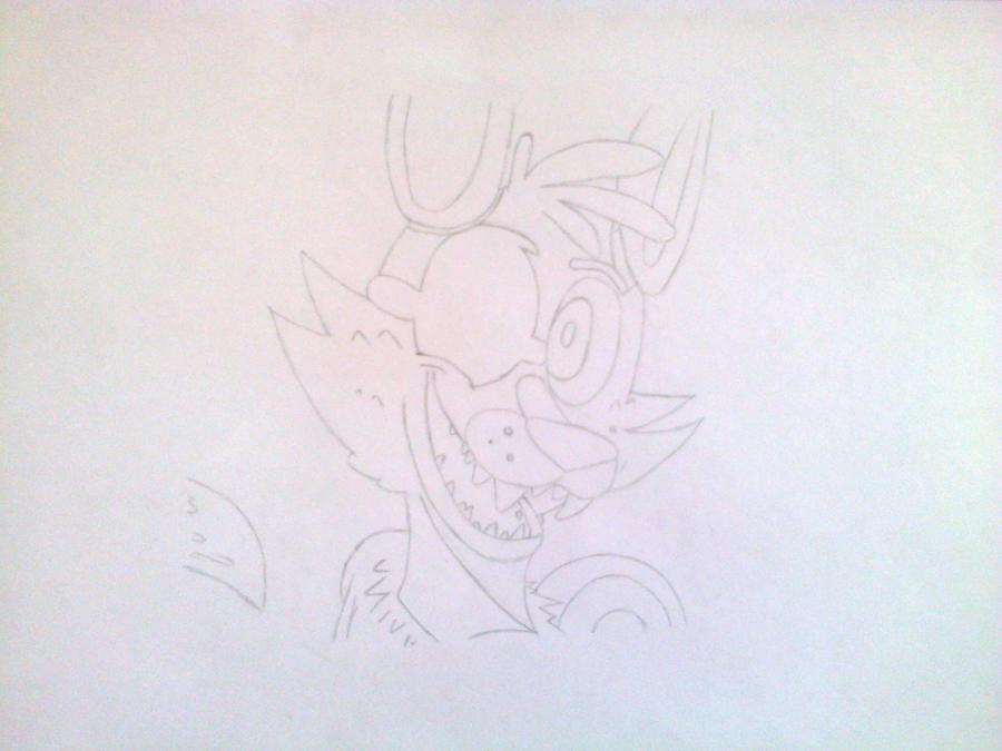 Рисуем голову Фокси из 5 ночей с Фредди - шаг 5