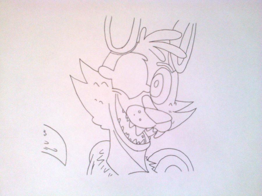Рисуем голову Фокси из 5 ночей с Фредди - шаг 6