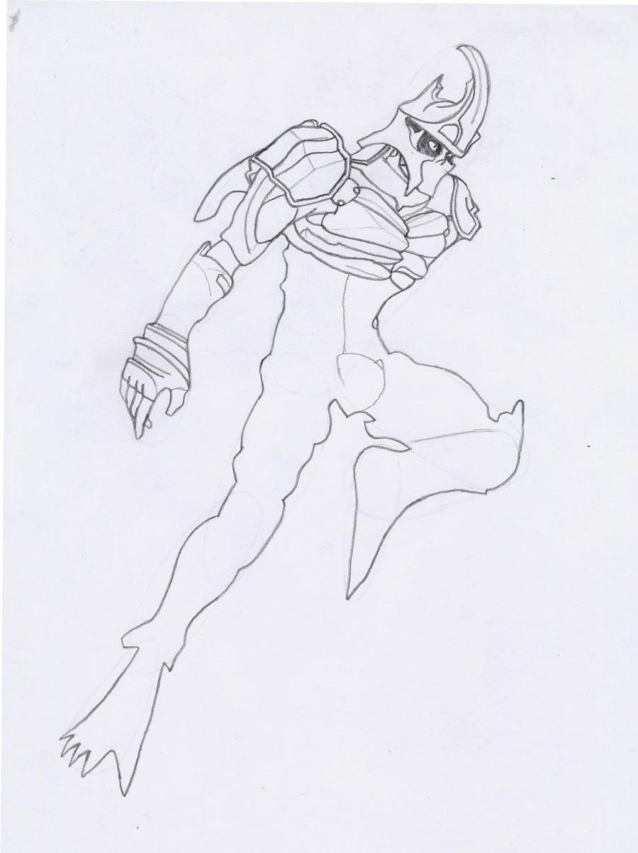 Рисуем Йошимитсу из игры Теккен
