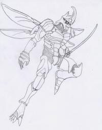 Рисунок Йошимитсу из игры Теккен