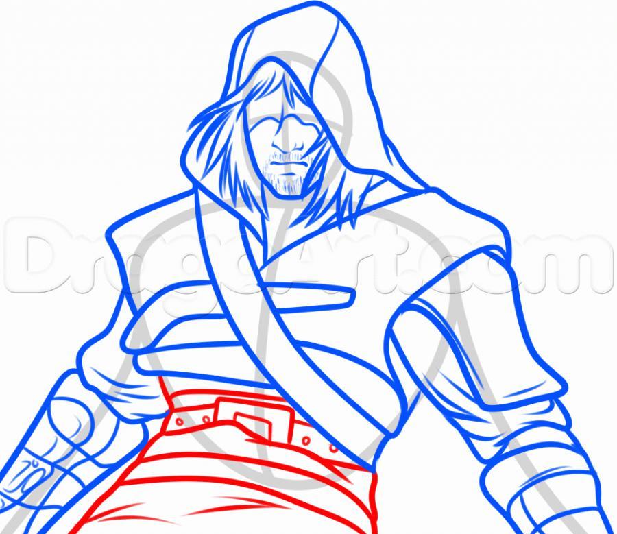 Рисуем Эдварда Кенуэя из Assassins Creed 4