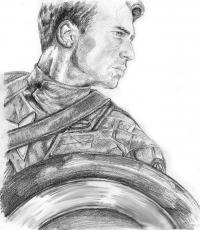 Как нарисовать Капитана Америку карандашом поэтапно