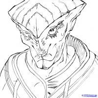 Как нарисовать карандашом Протеанца  из Mass Effect