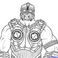 Клейтона Кармин из Gears of War карандашом