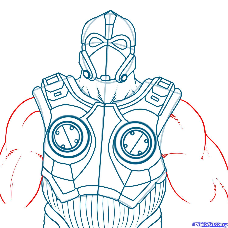 Как нарисовать Клейтона Кармин из Gears of War карандашом поэтапно