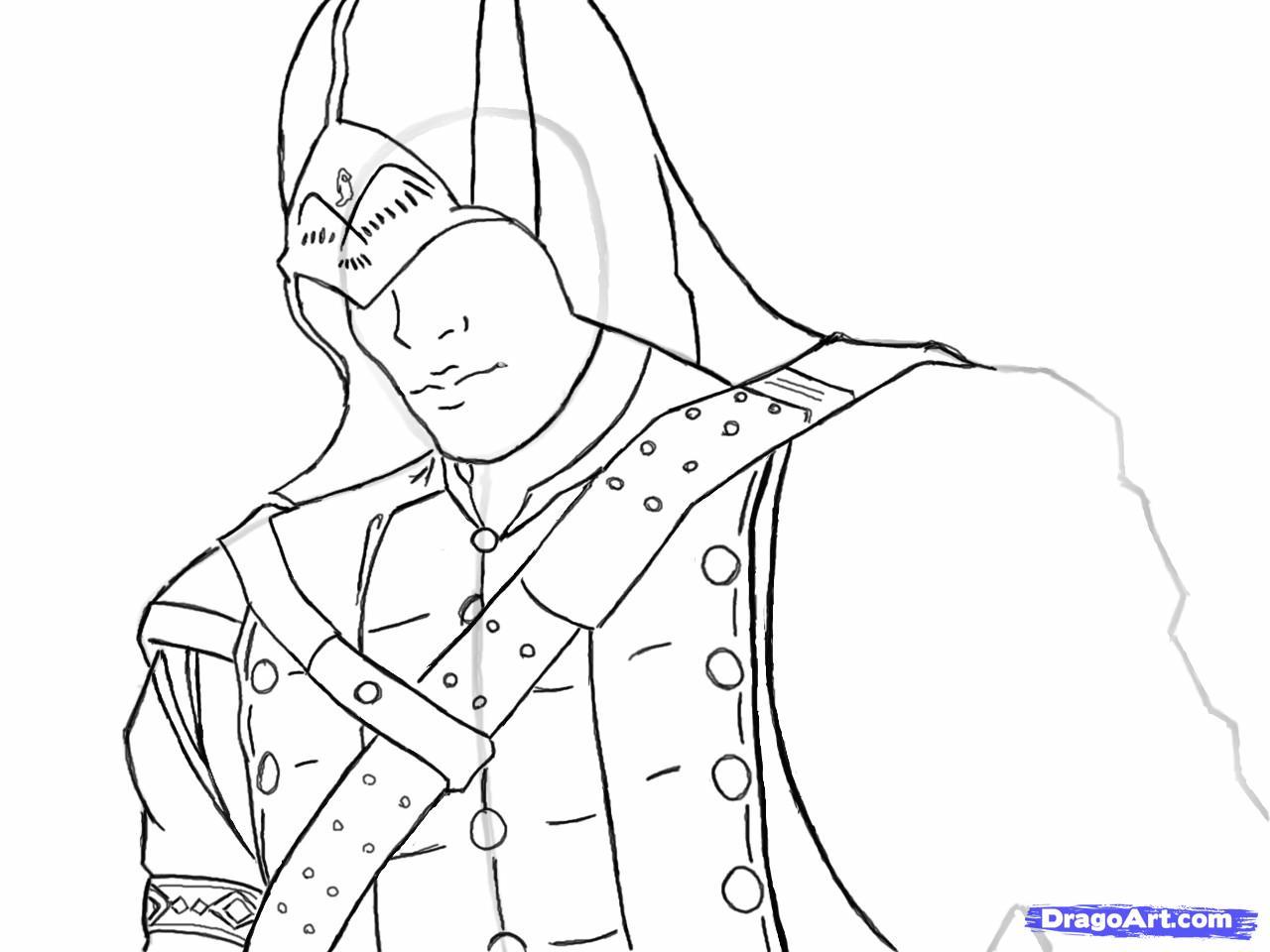 Рисуем Коннора Кенуэй из Assassins Creed 3 - шаг 10
