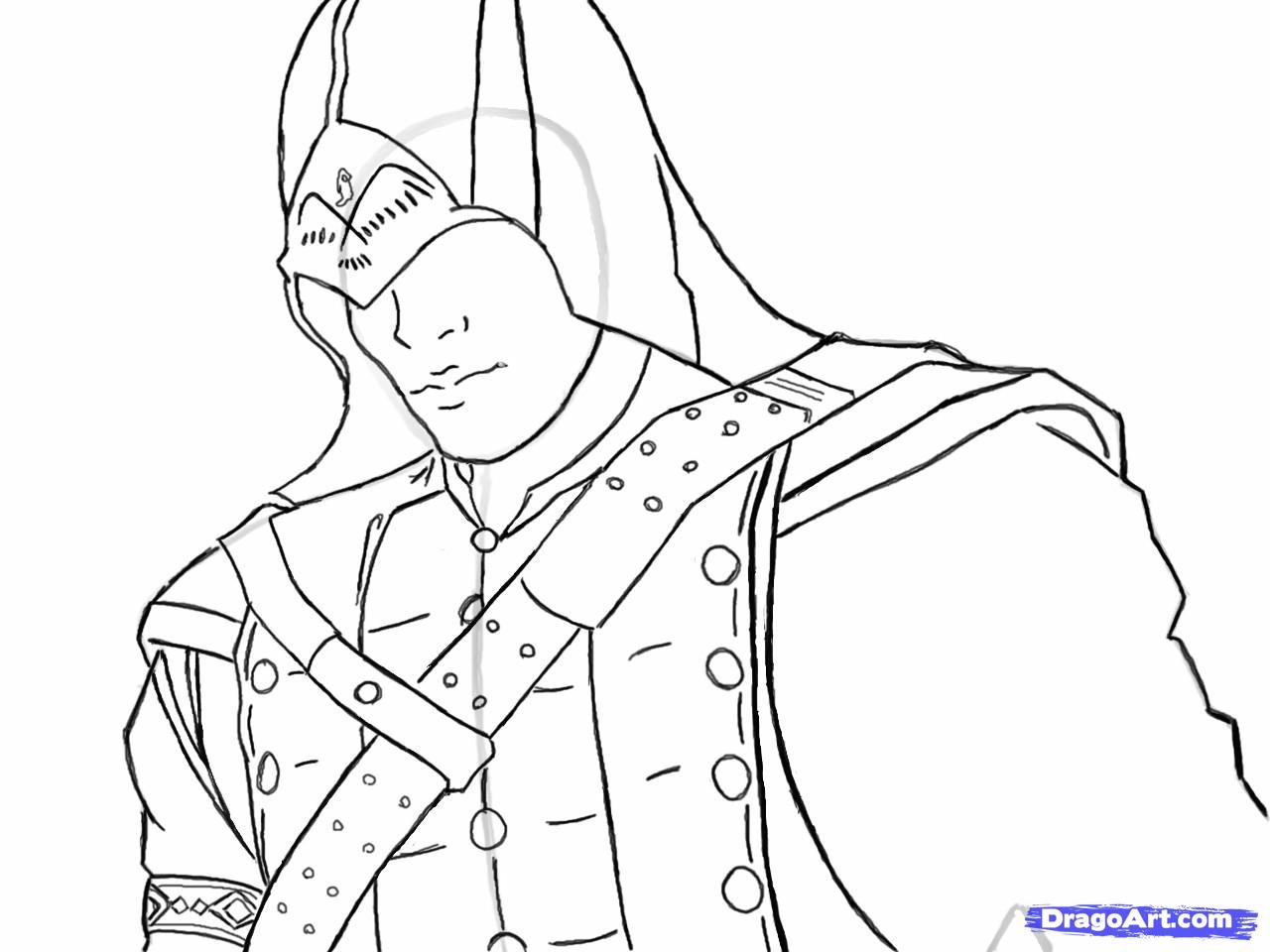 Рисуем Коннора Кенуэй из Assassins Creed 3 - шаг 11