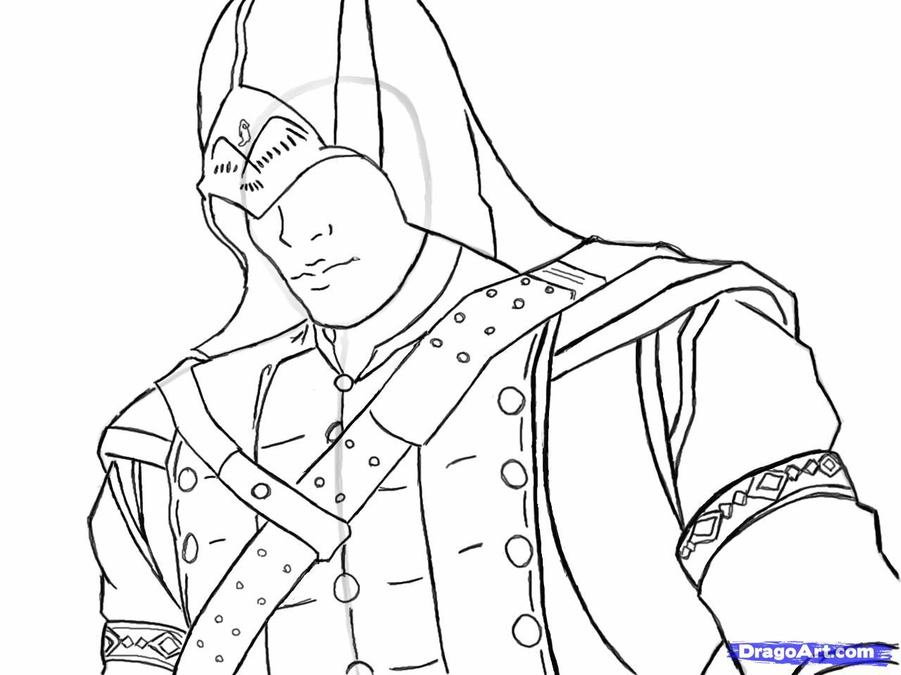 Рисуем Коннора Кенуэй из Assassins Creed 3 - шаг 12