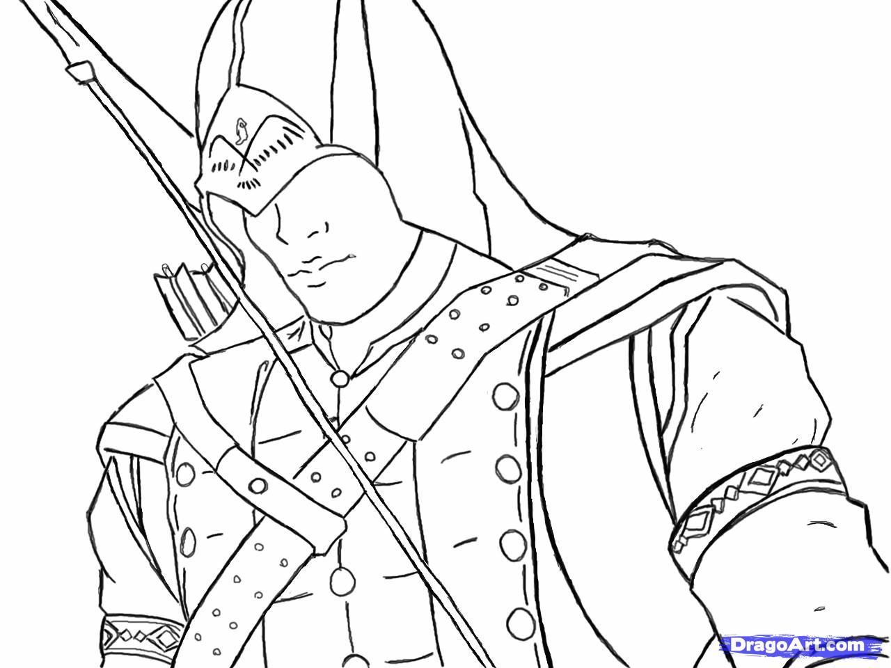 Рисуем Коннора Кенуэй из Assassins Creed 3 - шаг 13
