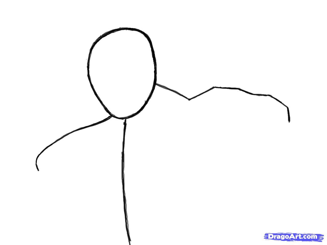 Рисуем Коннора Кенуэй из Assassins Creed 3 - шаг 2