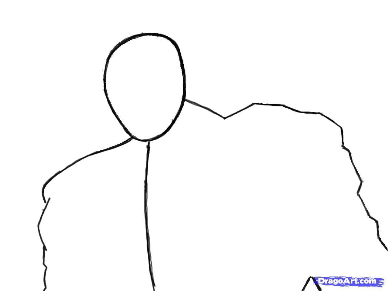 Рисуем Коннора Кенуэй из Assassins Creed 3 - шаг 3
