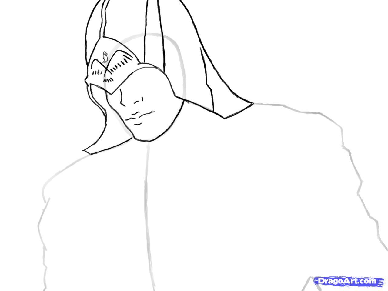 Рисуем Коннора Кенуэй из Assassins Creed 3 - шаг 5