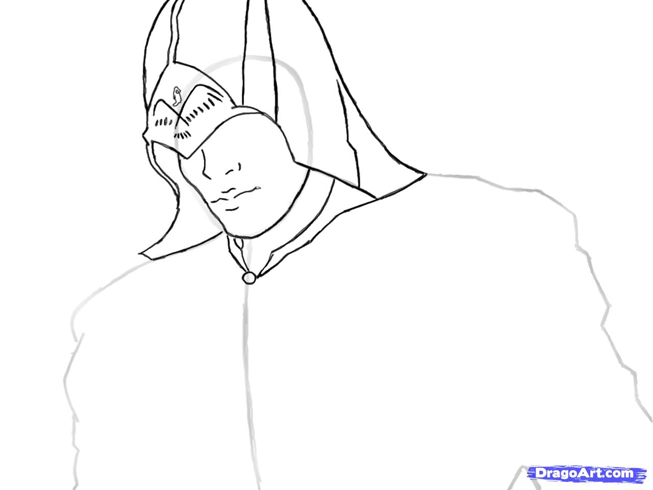 Рисуем Коннора Кенуэй из Assassins Creed 3 - шаг 6