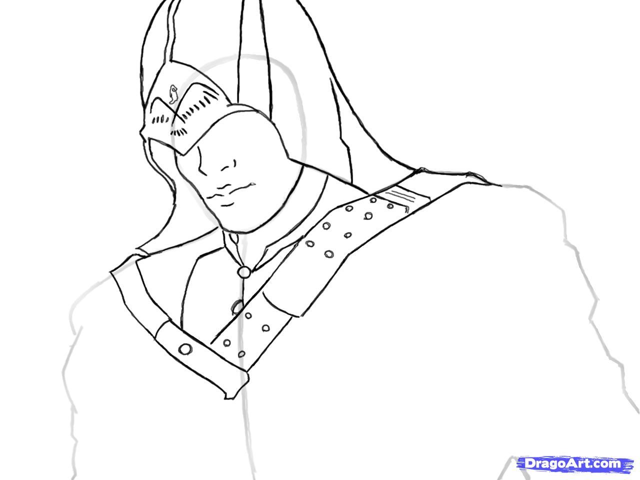 Рисуем Коннора Кенуэй из Assassins Creed 3 - шаг 7