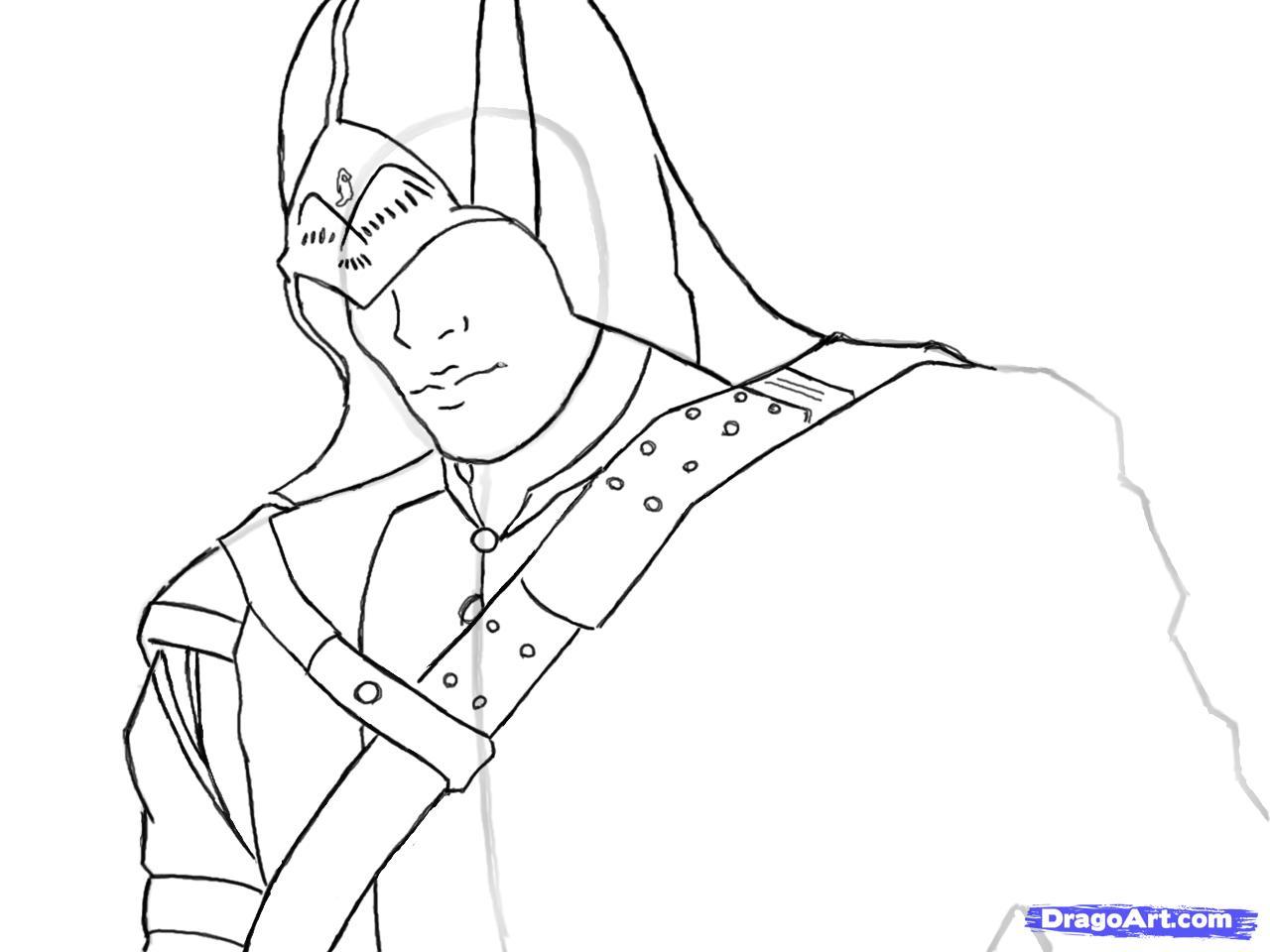 Рисуем Коннора Кенуэй из Assassins Creed 3 - шаг 8