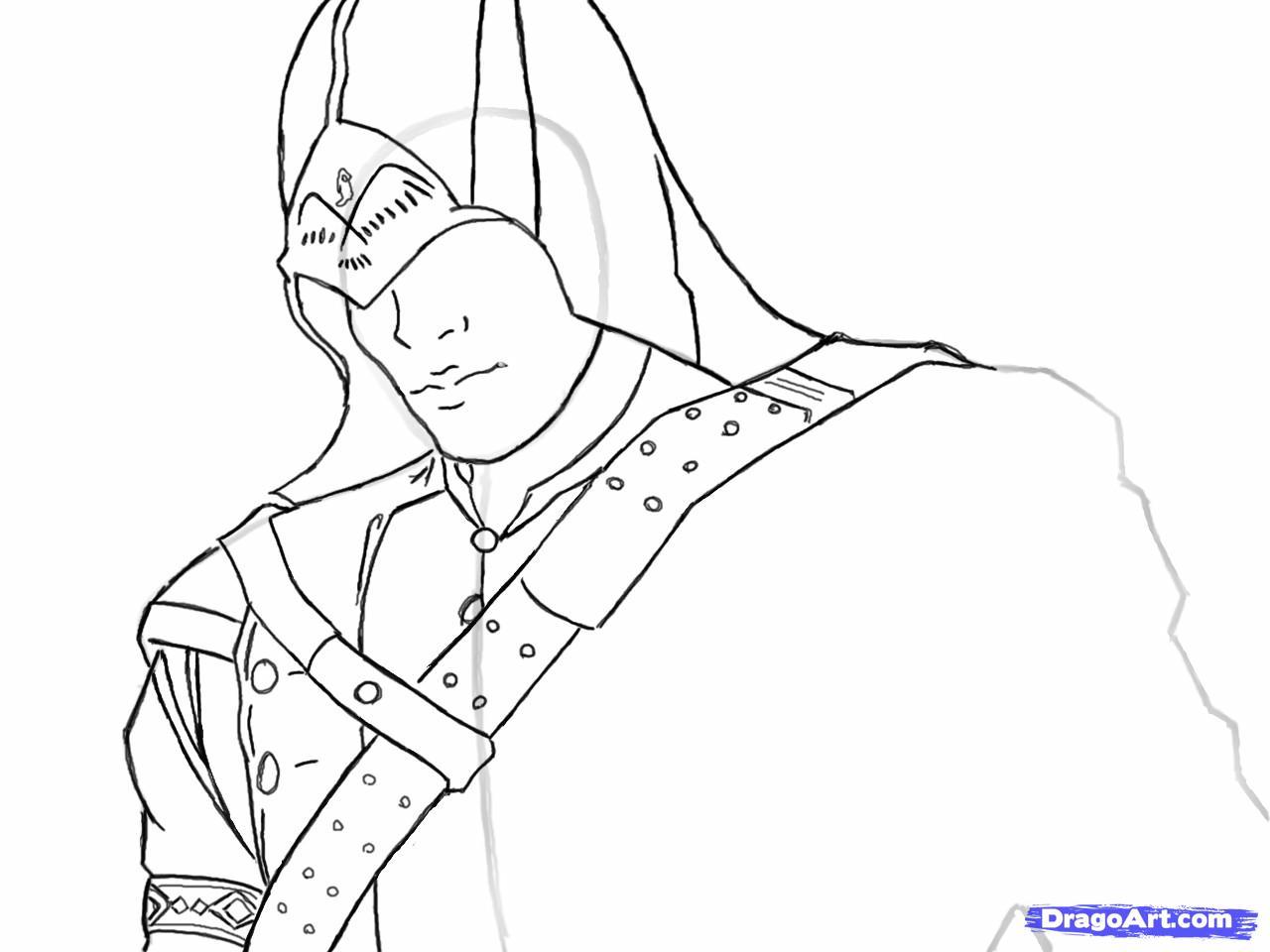Рисуем Коннора Кенуэй из Assassins Creed 3 - шаг 9