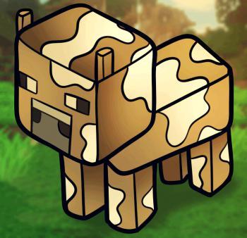 Рисуем корову из Minecraft
