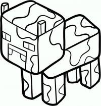 Фото корову из Minecraft карандашом