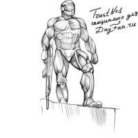 костюм Crysis 3 карандашом