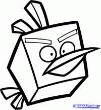 Ледяную птицу Angry Birds карандашом