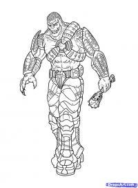 Локуста из Gears of War карандашом