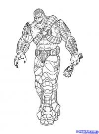 Фото Локуста из Gears of War карандашом