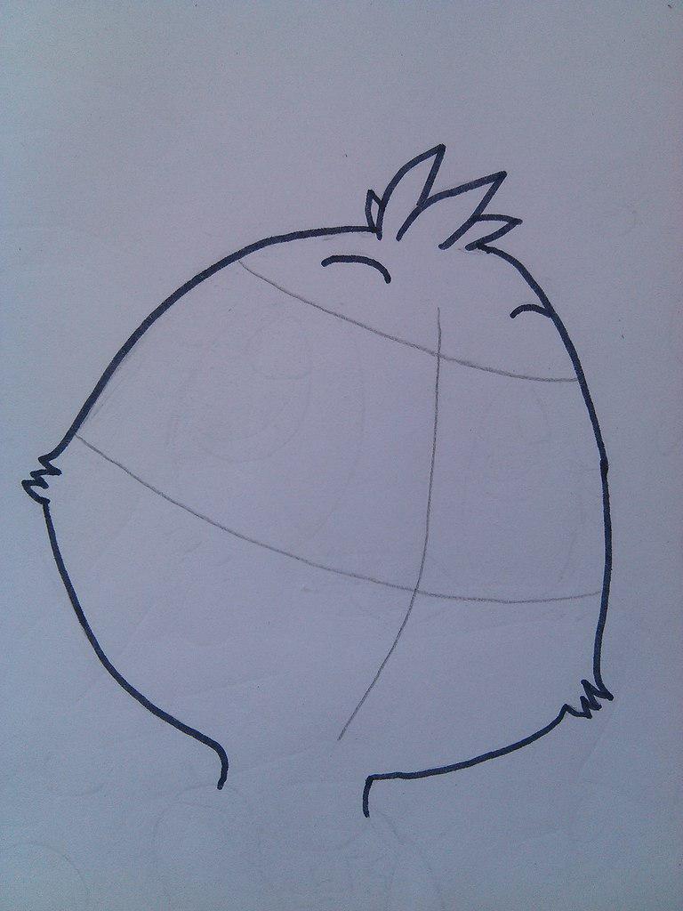 Рисуем маленькую Той Чику - шаг 2