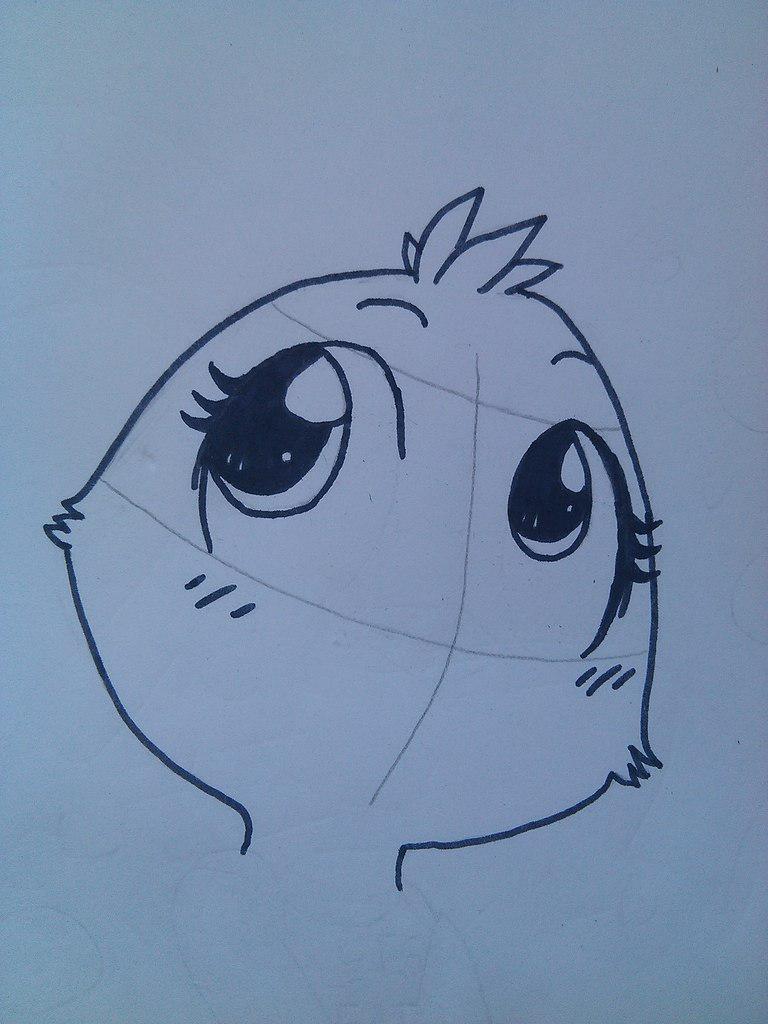 Рисуем маленькую Той Чику - шаг 3
