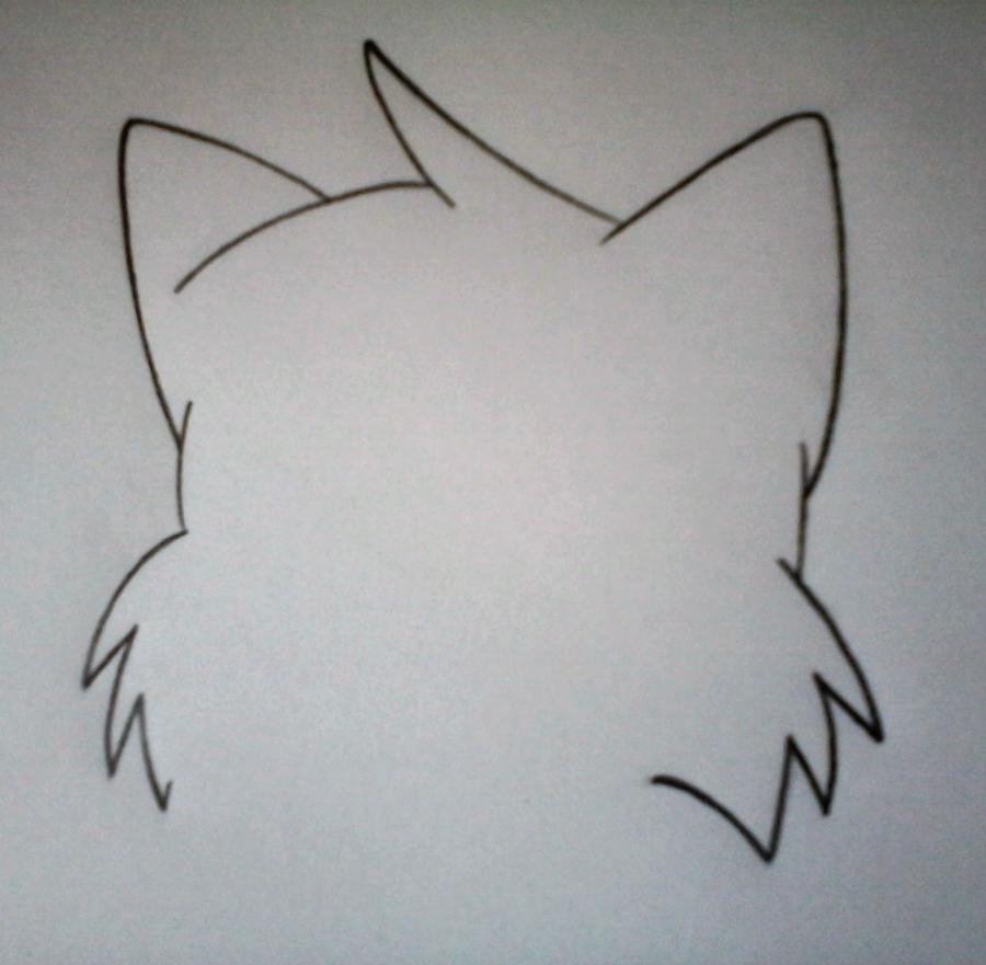 Рисуем Мангл в стиле маленького лисенка - шаг 1