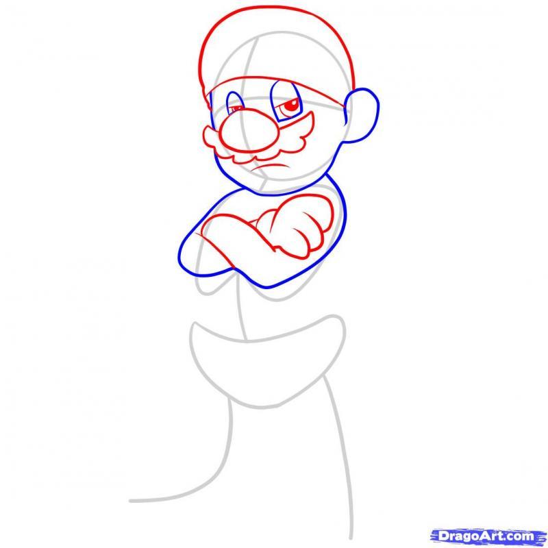 Рисуем Марио Гангстера - фото 3