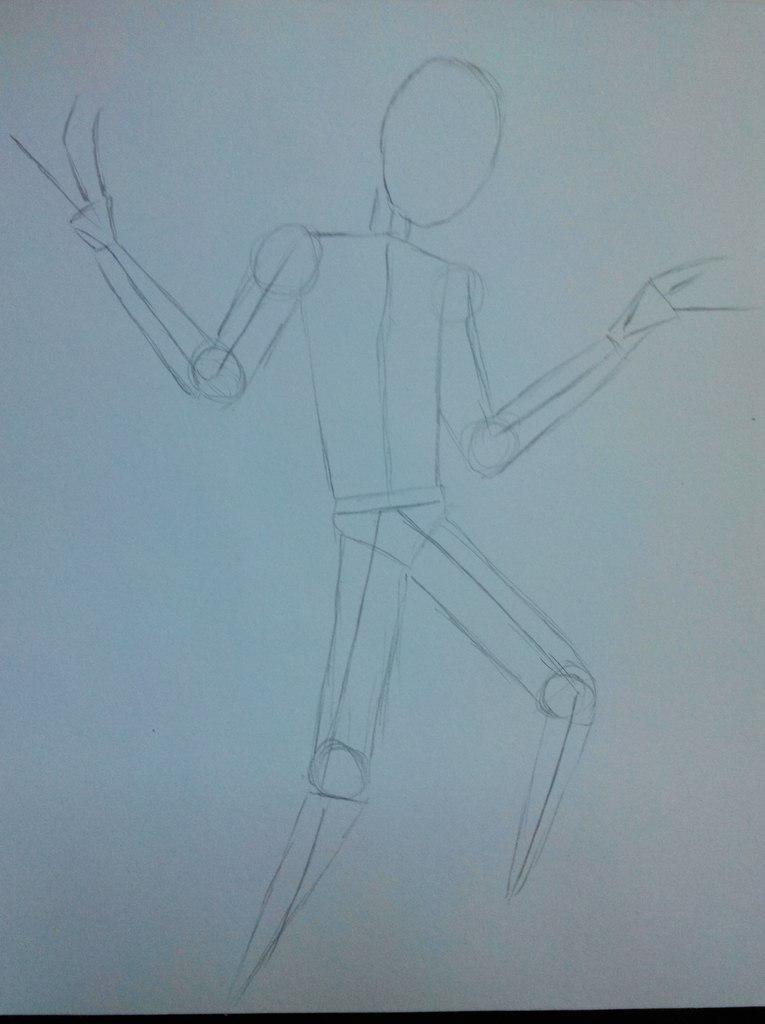 Рисуем Марионетку из Пять ночей с Фредди карандашами
