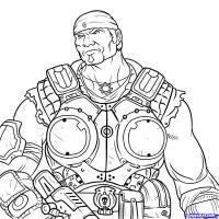 Маркуса Феникс из Gears of War карандашом
