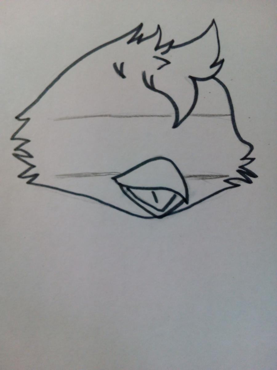 Голова фредди как нарисовать