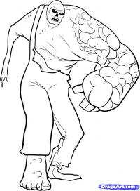монстра Charger из Left 4 Dead карандашом
