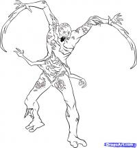Некроморфа из Dead Space карандашом