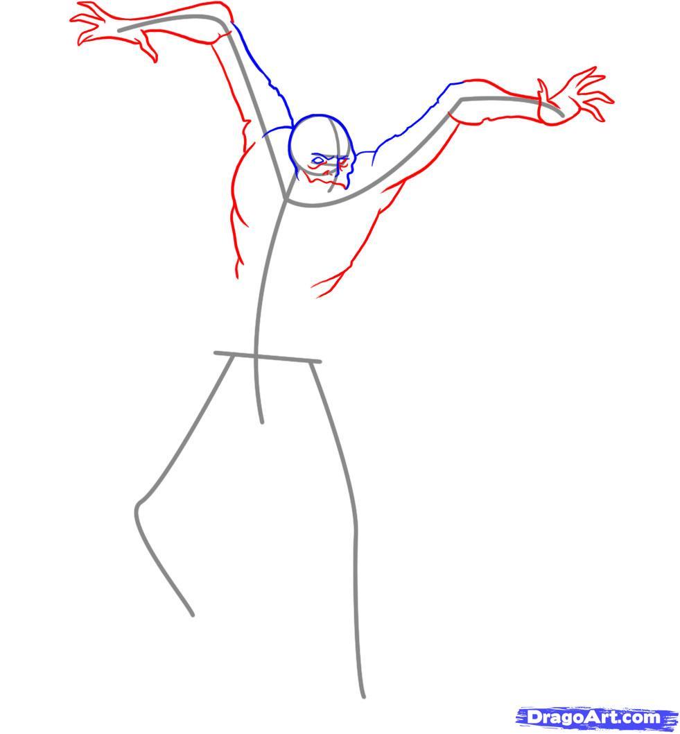 Как нарисовать Некроморфа из dead space карандашом поэтапно