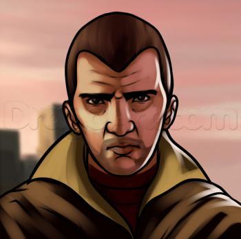 Рисуем Нико Беллика из игры GTA