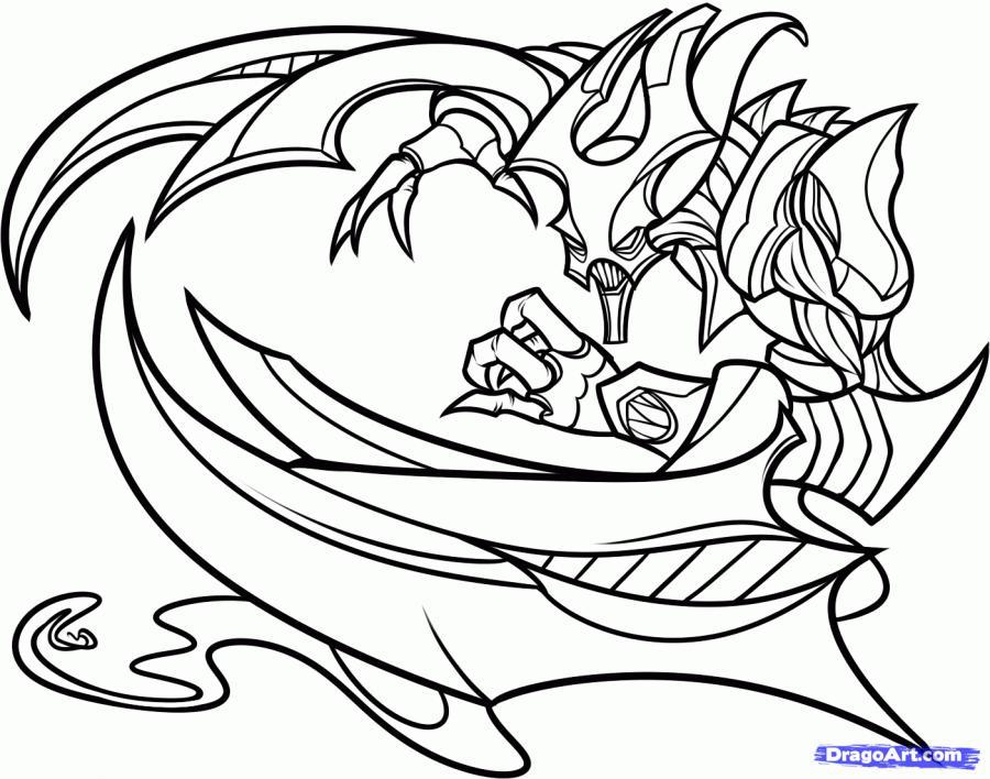 Как нарисовать Ноктюрна из игры League of Legends