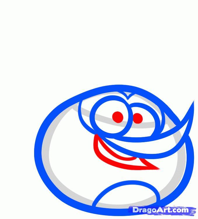 Рисуем оранжевую птицу на бумаге